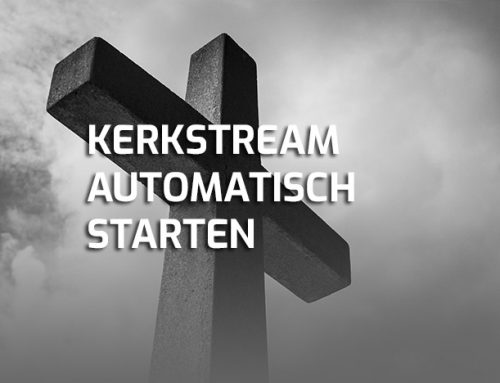 Kerkdienst livestream YouTube automatisch opstarten Windows PC