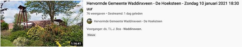 Kerkdienst via YouTube