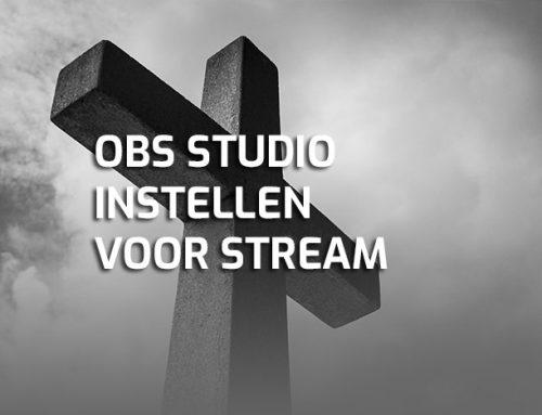 OBS Studio instellen voor live kerkdienst streamen naar YouTube