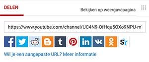 Delen livestream YouTube live
