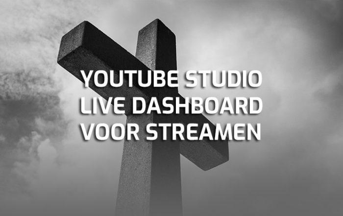 YouTube studio live dashboard voor kerkdienst streamen